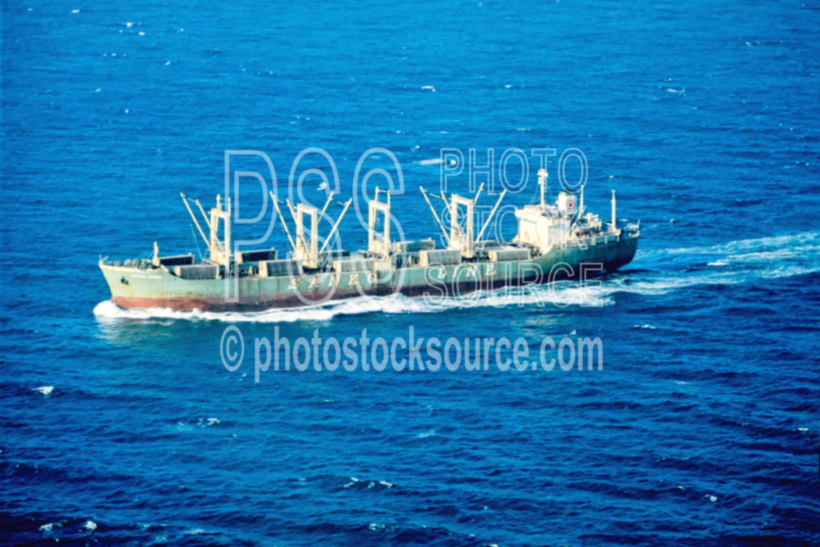 Freighter on the Ocean,freighter,ocean,ship,aerial,usas,aeronautics,boats,aerials