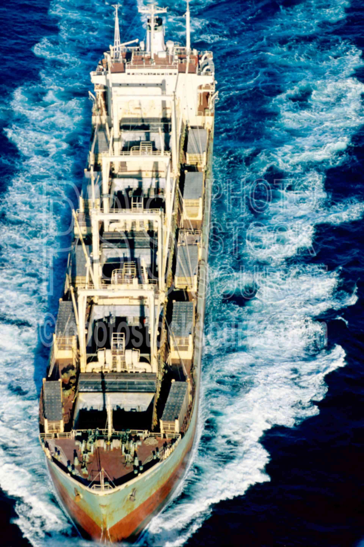 Freighter on the Ocean,freighter,ocean,ship,aerial,usas,aeronautics,boats,aerials