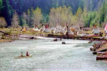 Photo of Approaching Canoes