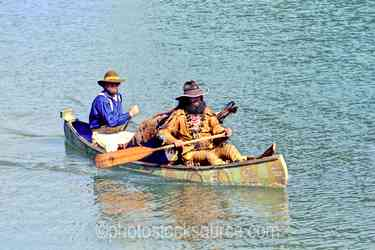 Photo of Paddling Canoe