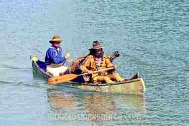 Paddling Canoe