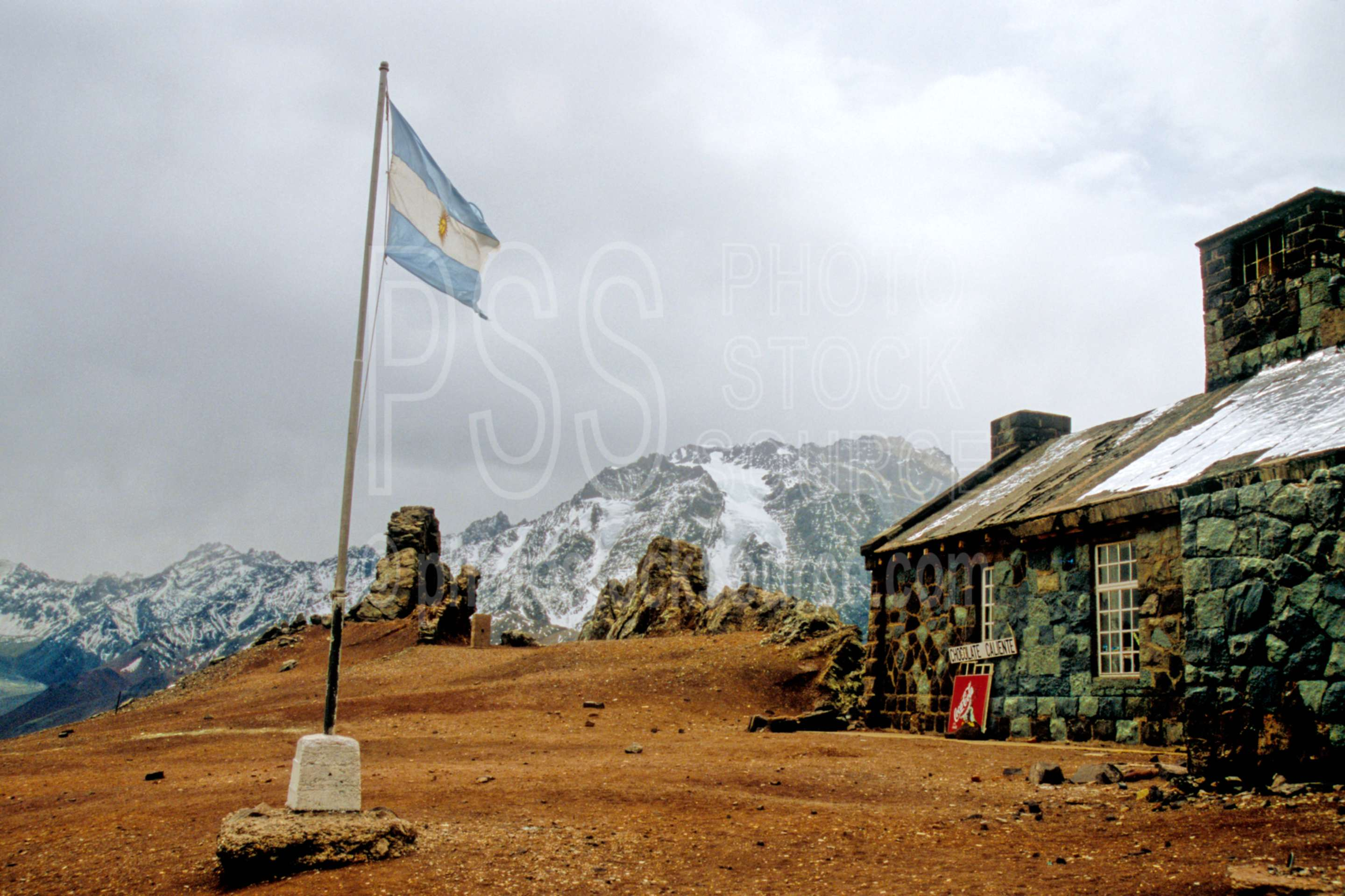 Argentine Mountain Station,pass,border,frontier,chile,flag,nature