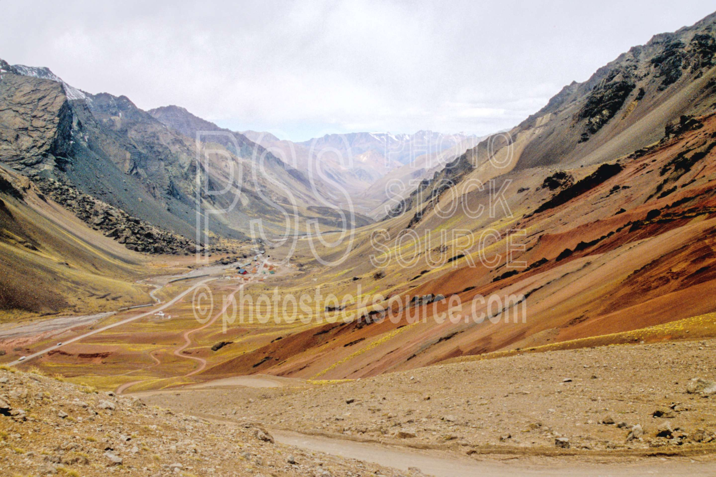 Las Cuevas Valley,border,chile,valley,nature,mountains