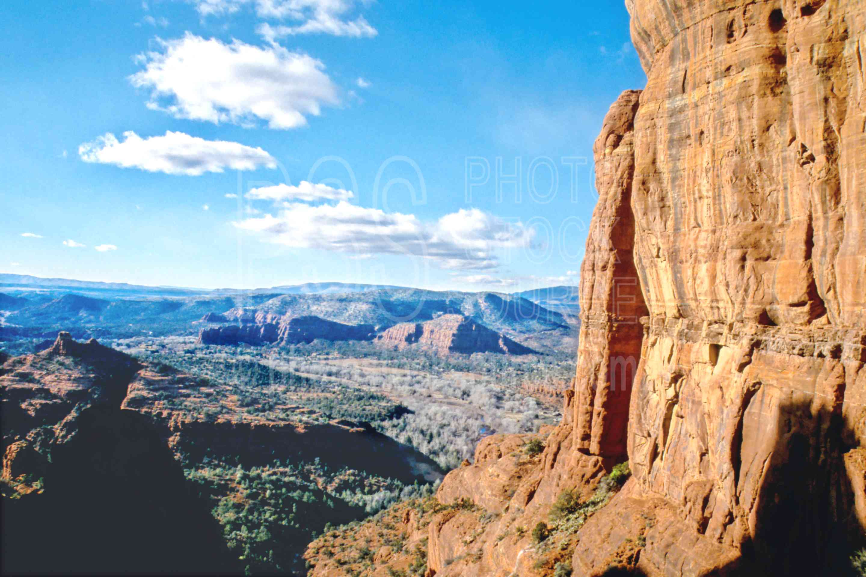 From Cathedral Rock,monolith,red rock crossing,usas