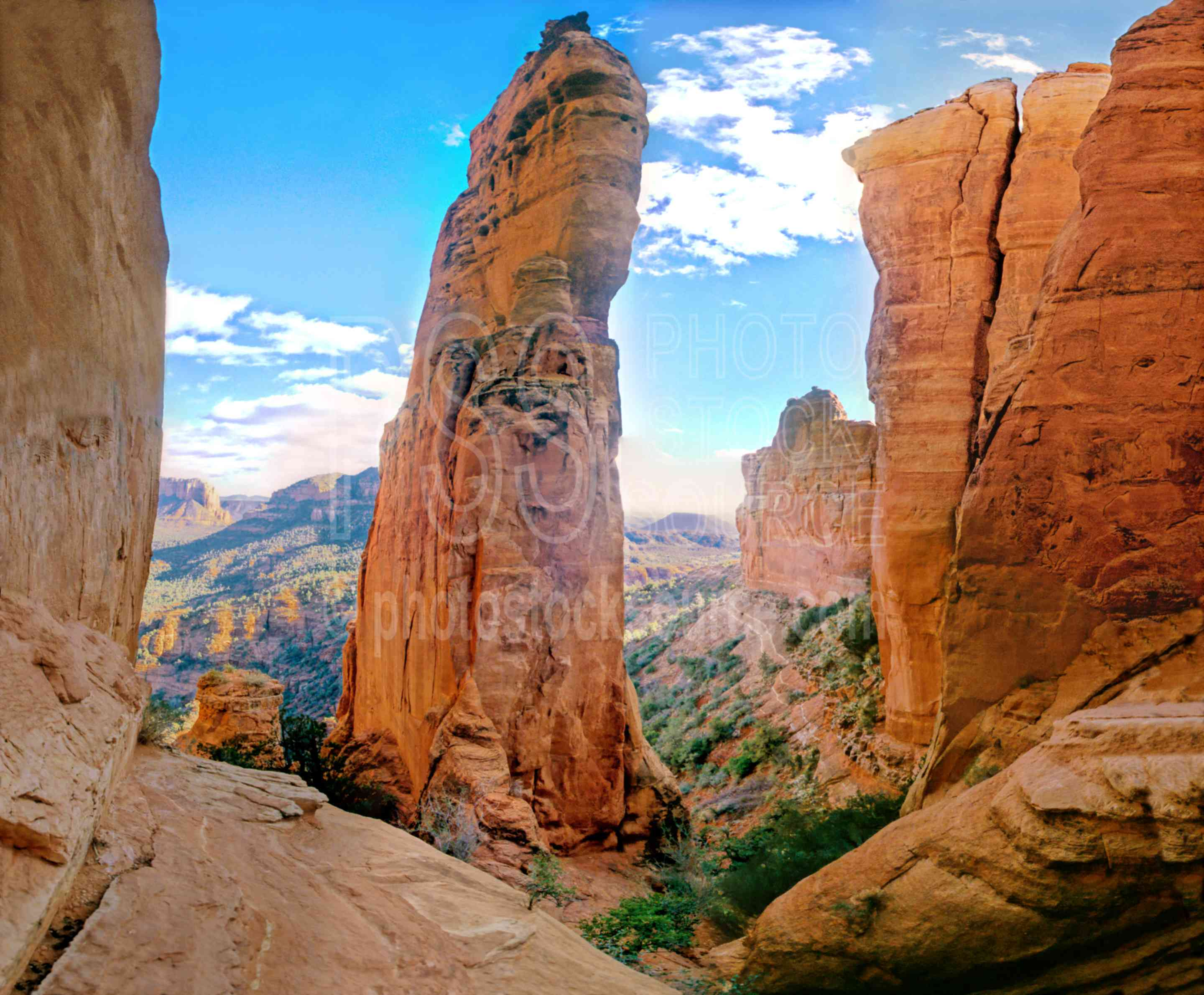 From Cathedral Rock,panorama,cathedral rock,monolith,usas,churches,religion