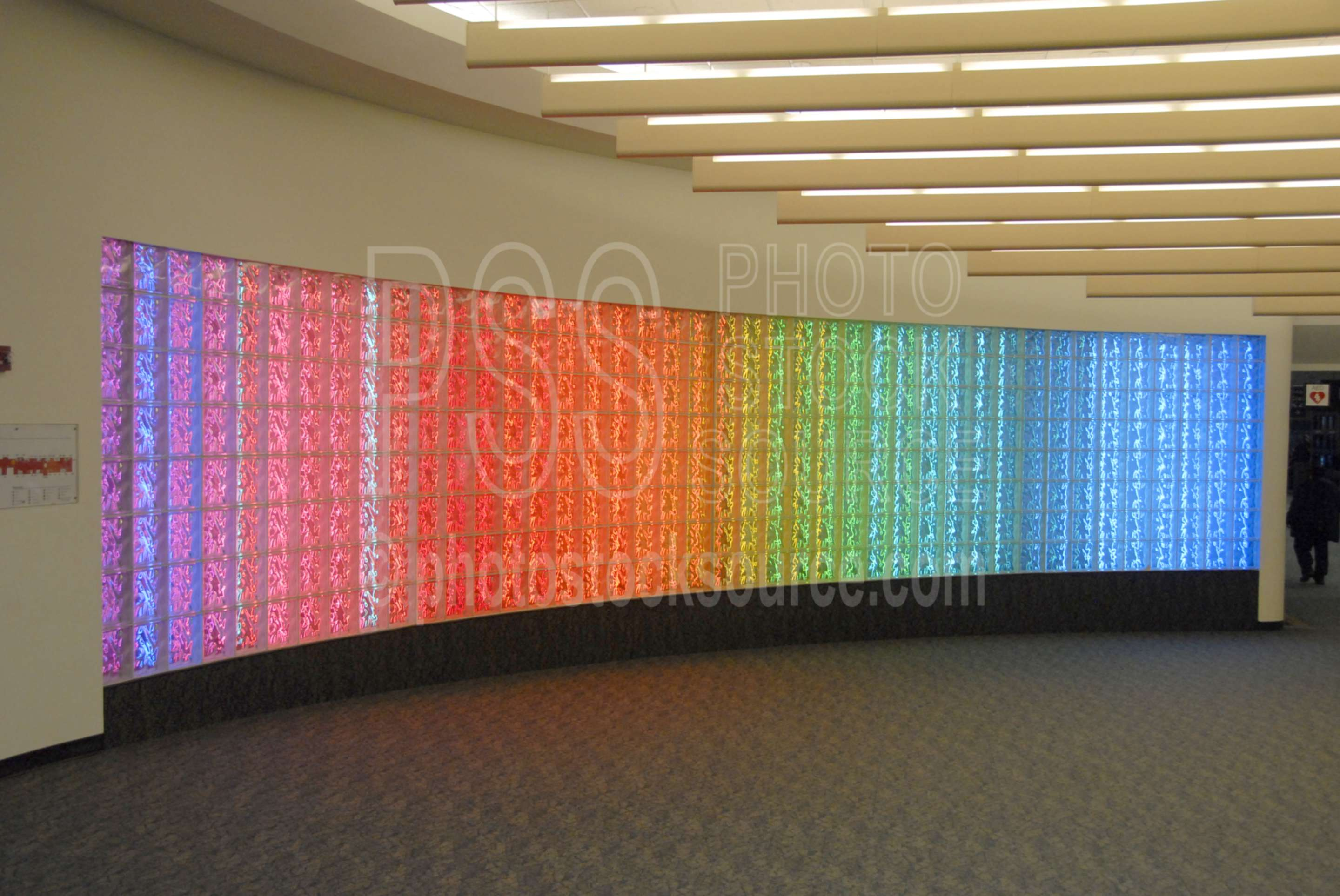 Colorful Light Wall,light,color,red,blue,art,sculpture