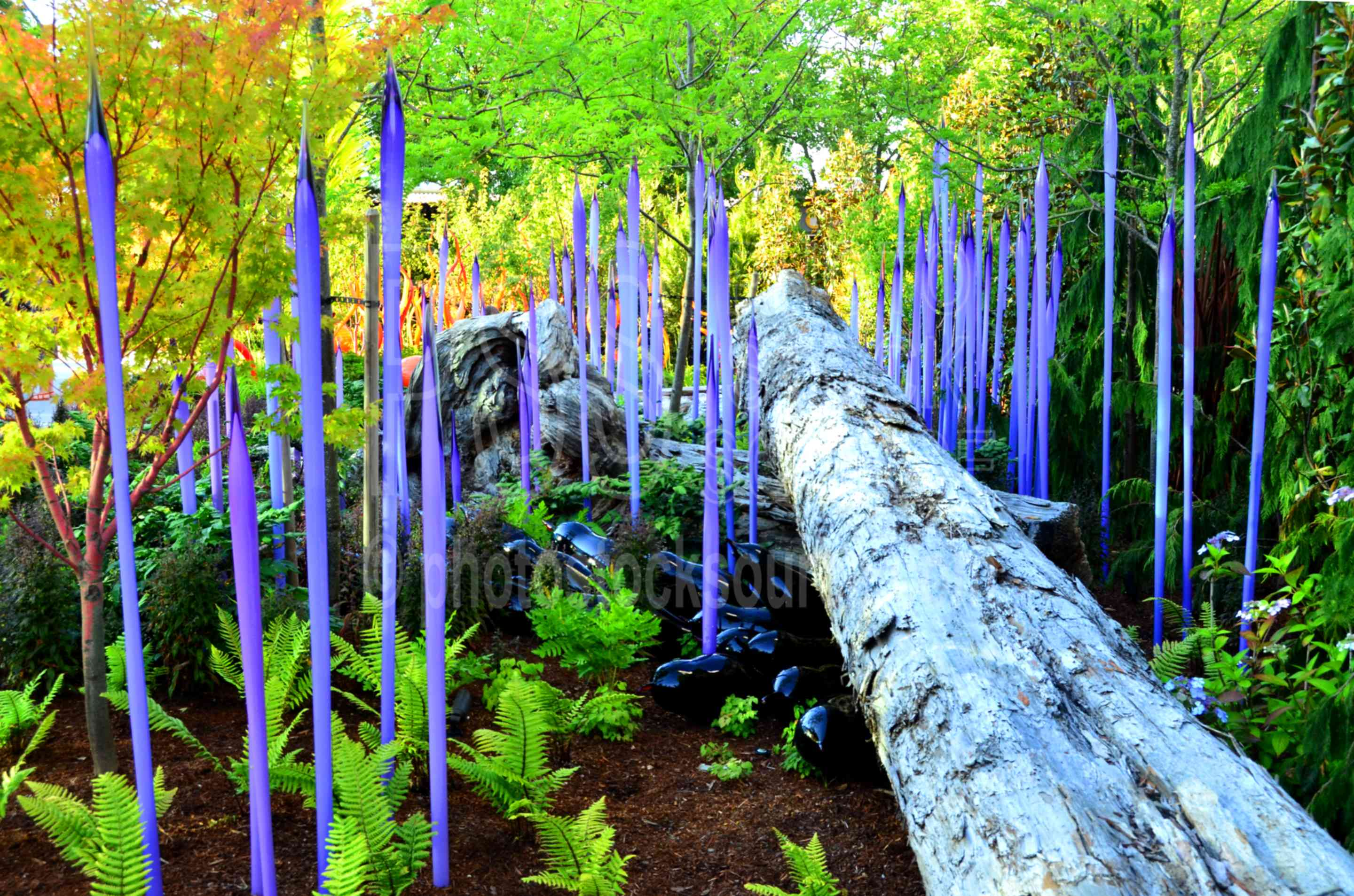 Photo of Glass Spires in the Garden by Photo Stock Source art ...
