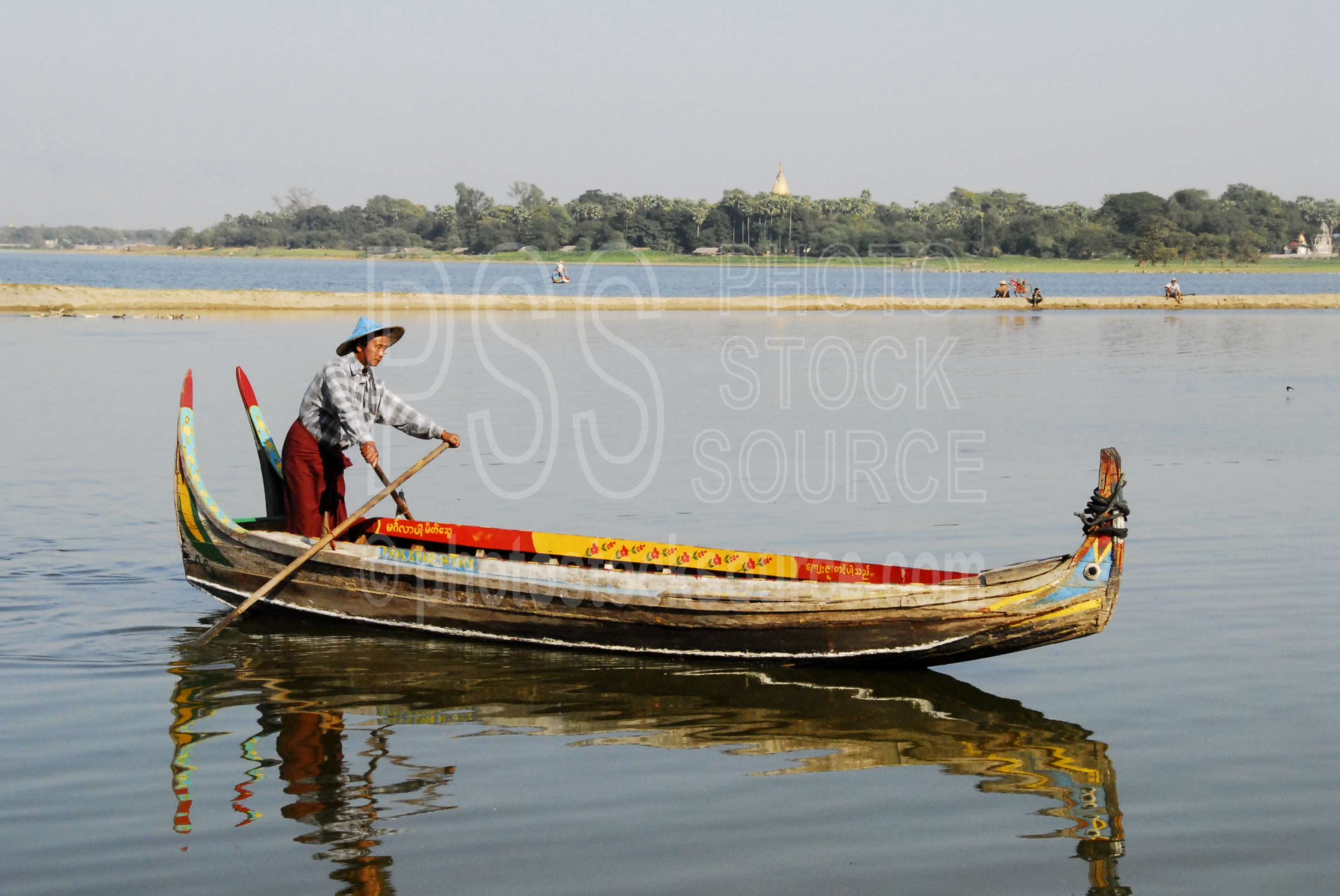 Colorful Boat,myanmar,boat,lake,taungthaman