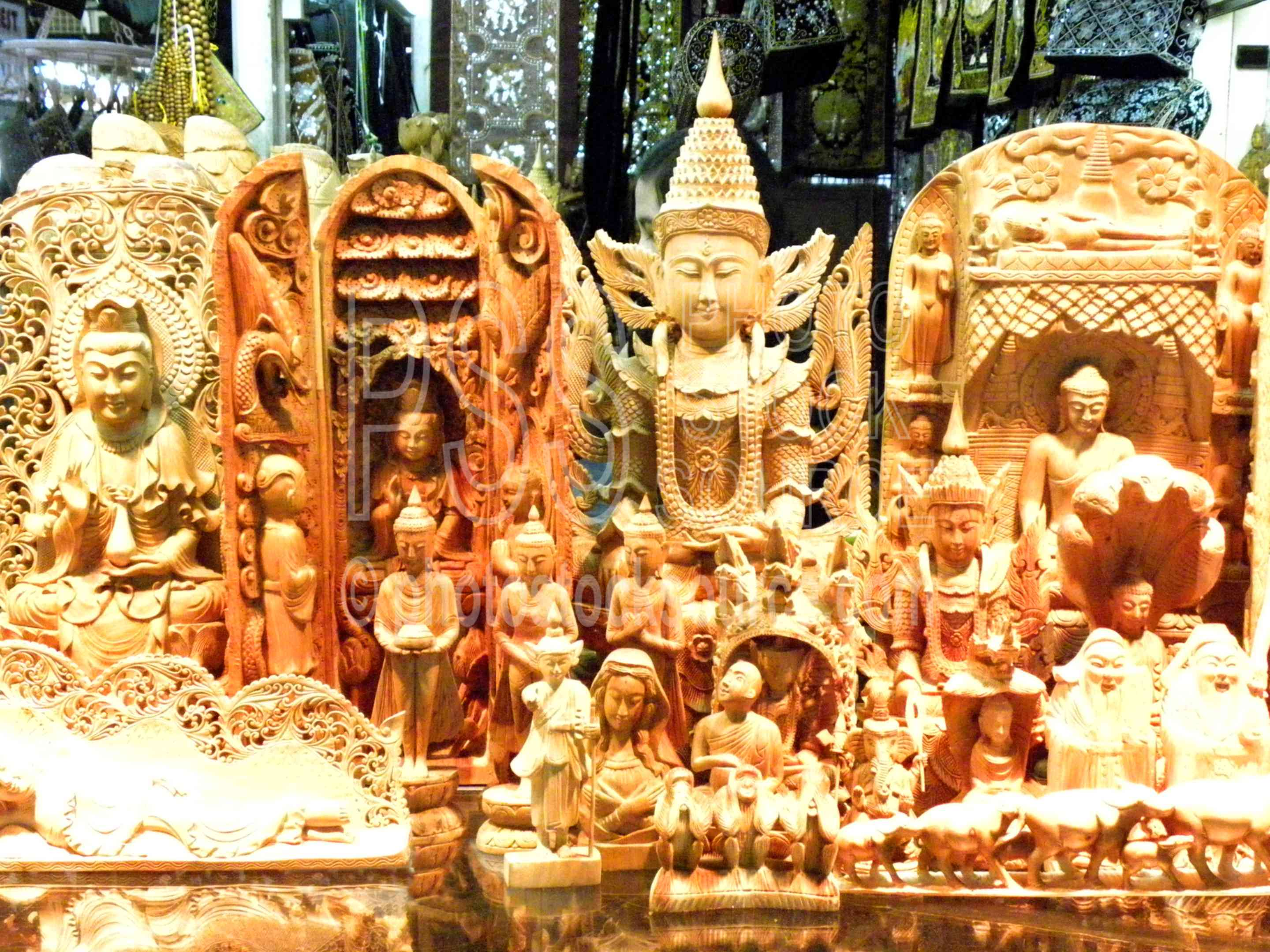 Photo of sandalwood carvings by stock source