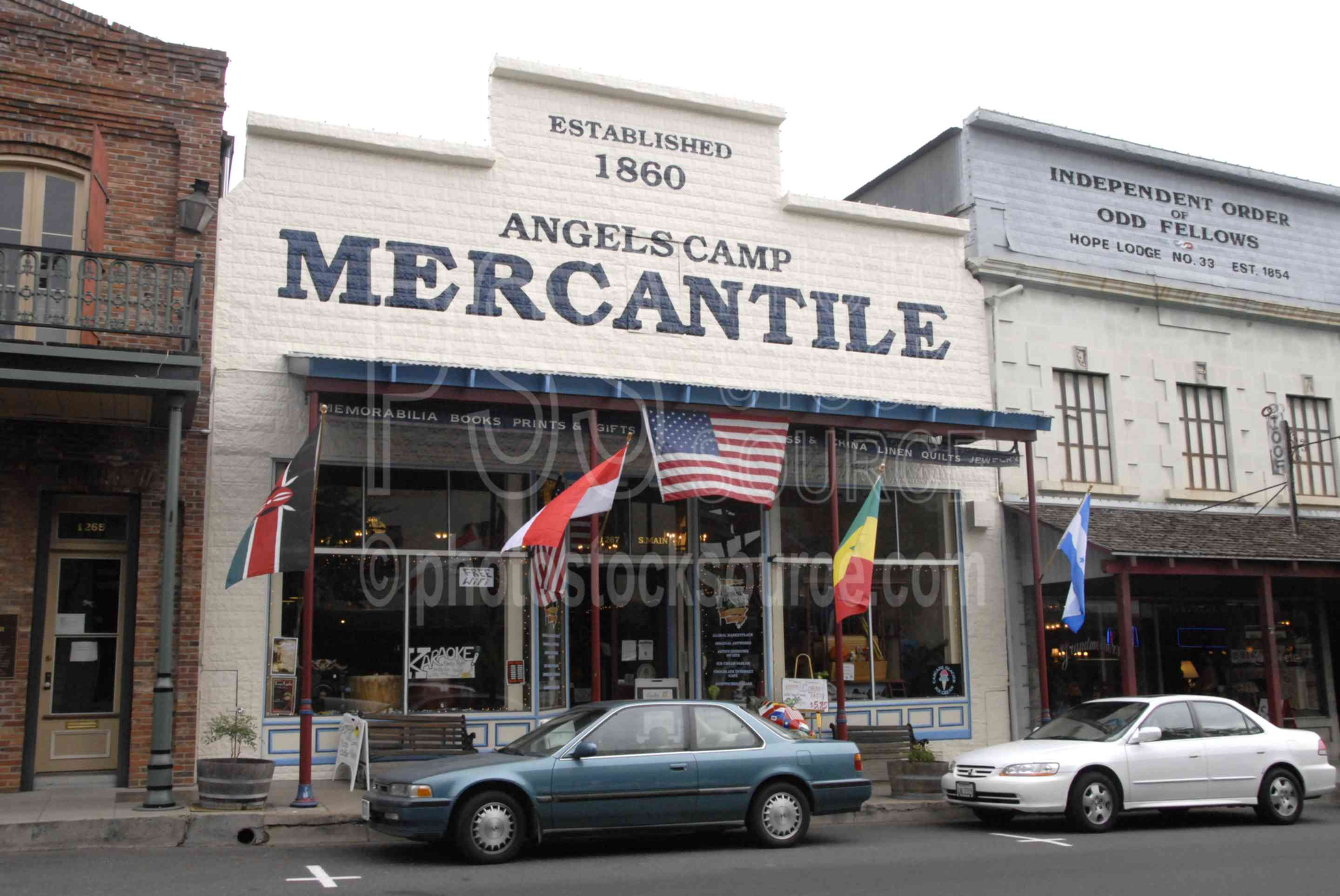 Angels Camp Mercantile,town,mining,street,main street