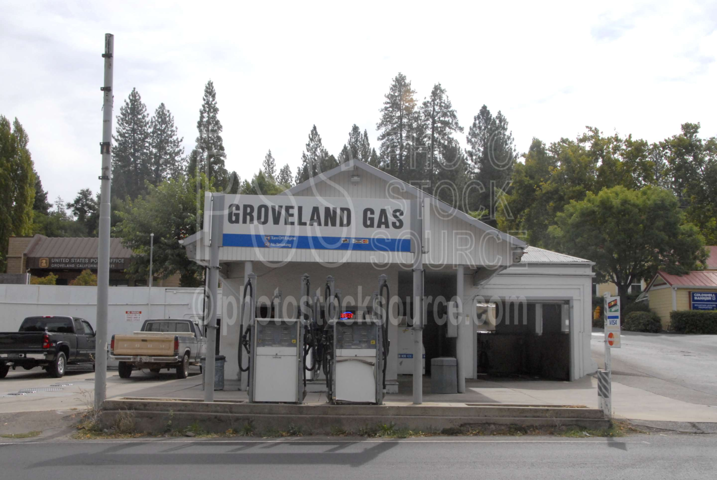 Gas Station,town,mining,street,main street,gas,station