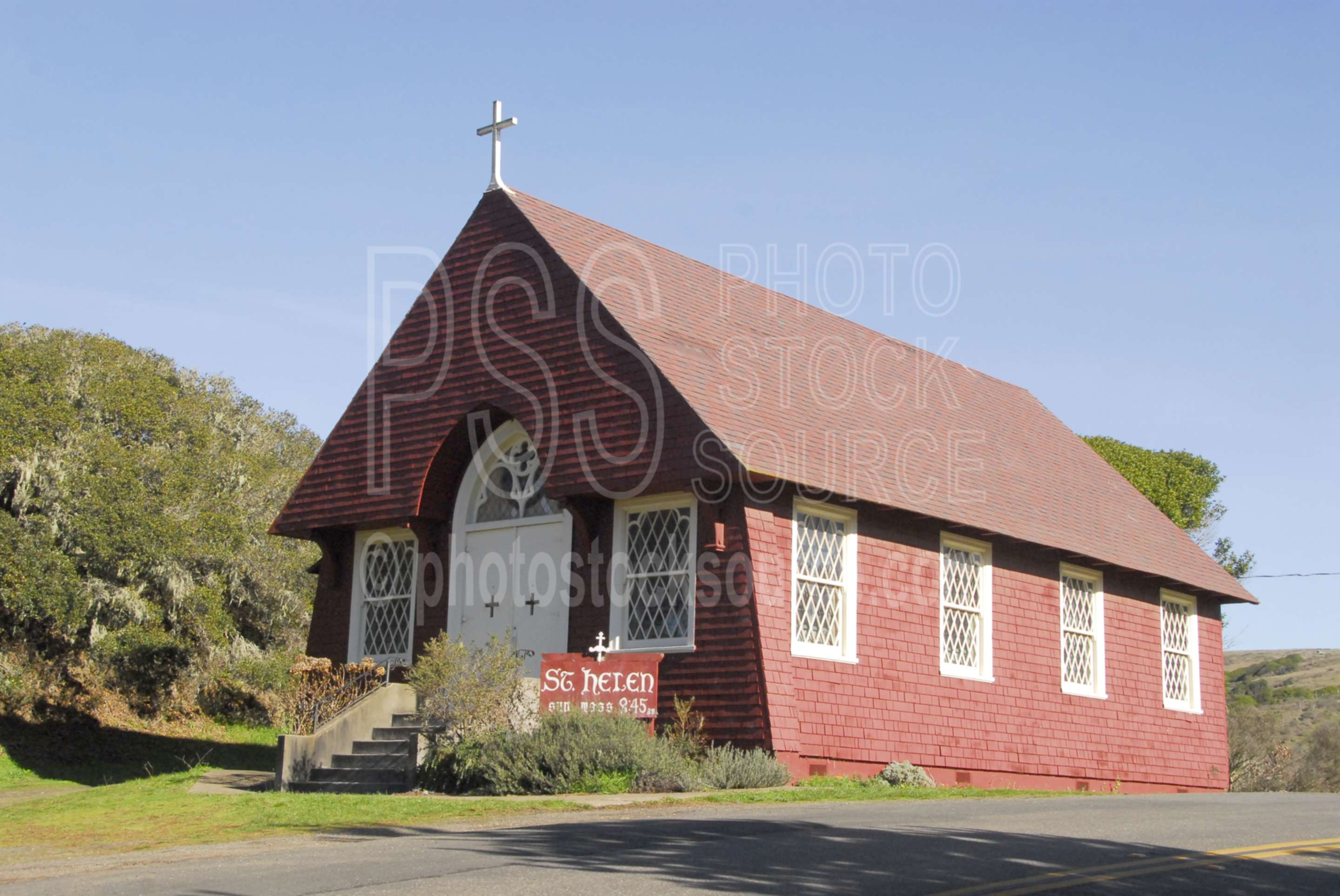 St. Helen Catholic Church,church,red,country church,historical,worship,churches,religion