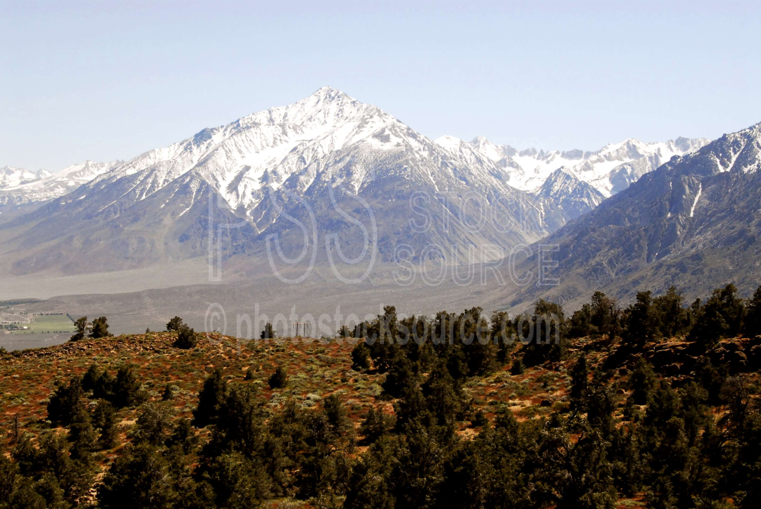 Mt Tom from Owens Valley,valley,mountains,owens valley,sierra nevada,mt. tom