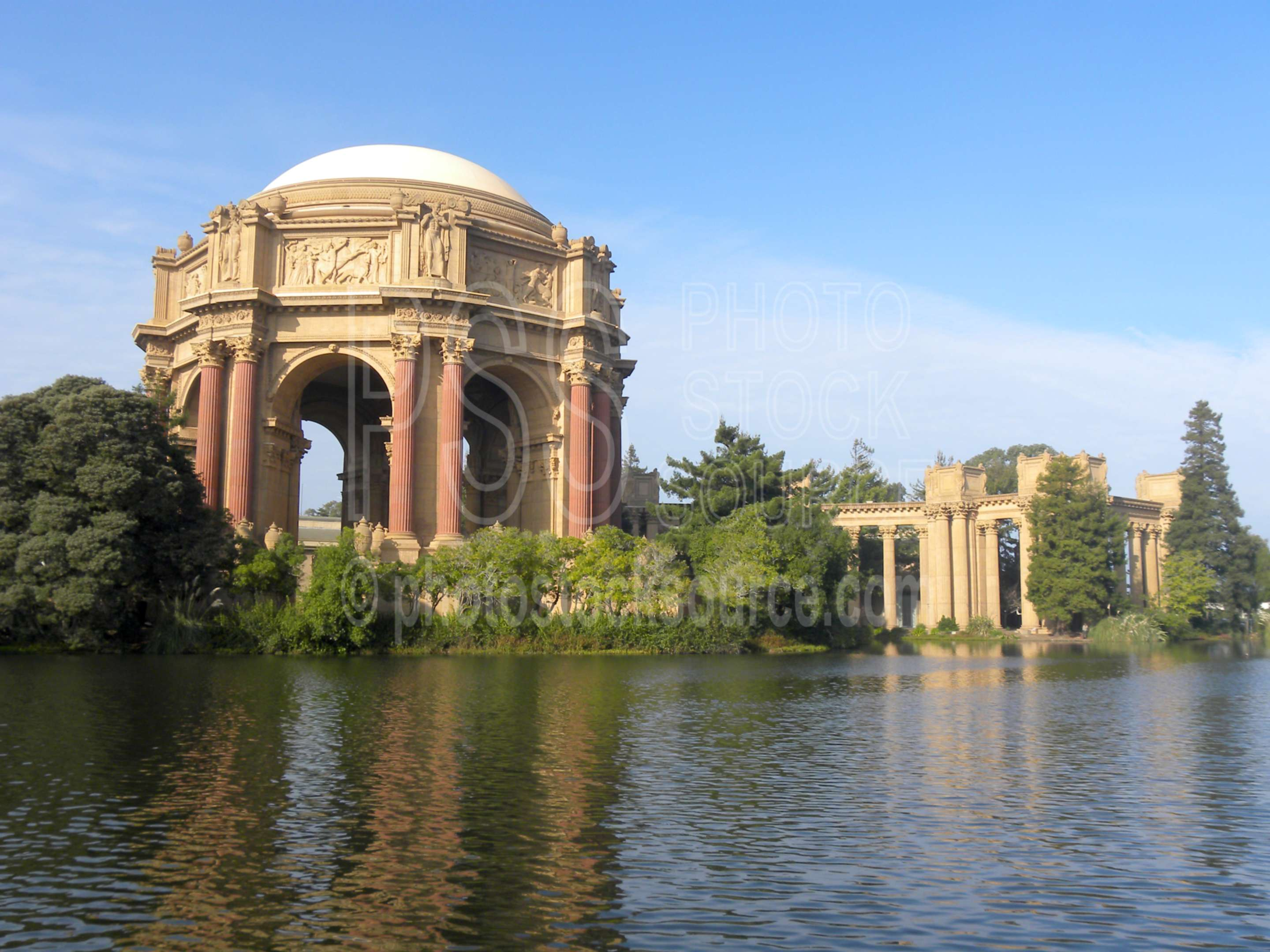Palace of Fine Arts,landmark,greek,park,pond,lake,structure