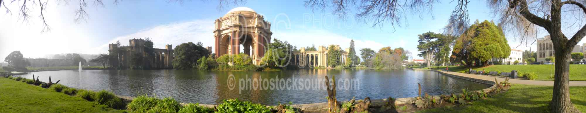 Palace of Fine Arts,landmark,greek,park,pond,lake,structure,cities panoramas,lakes panoramas,buildings panoramas