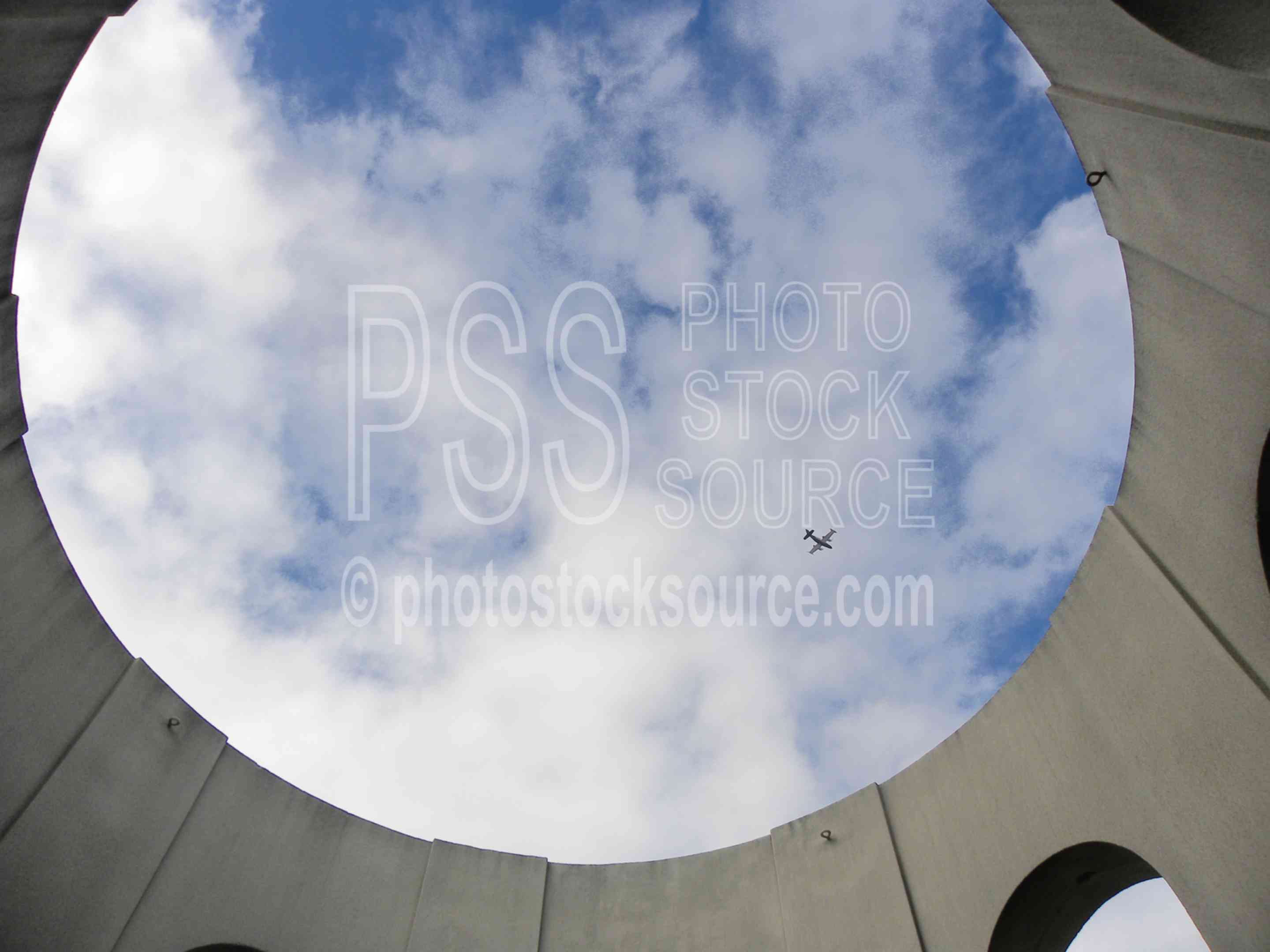 Top of Coit Tower,sky,clouds,abstract
