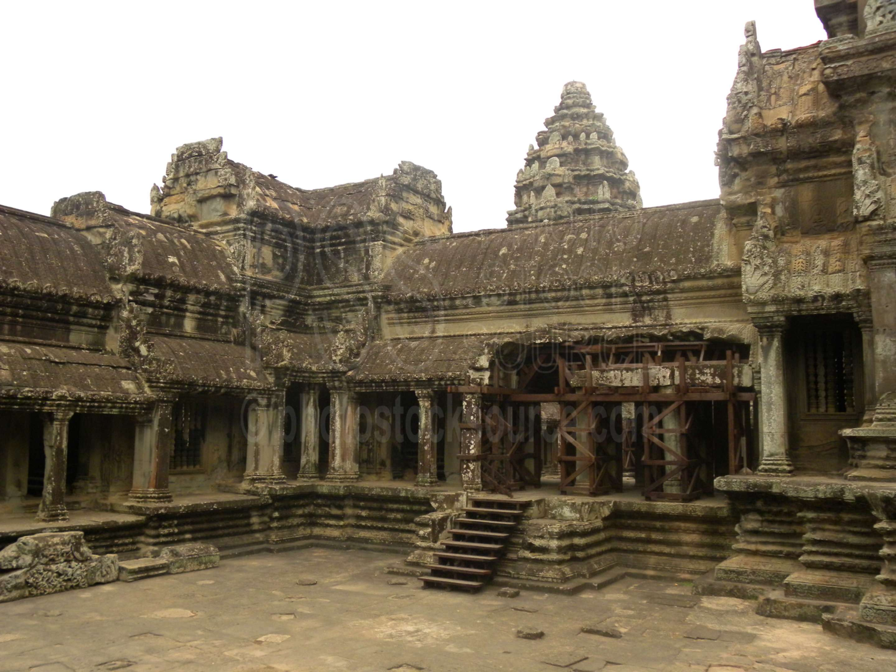Angkor Wat Upper Level,ruin,historical,archaeological,ancient,khmer,architecture
