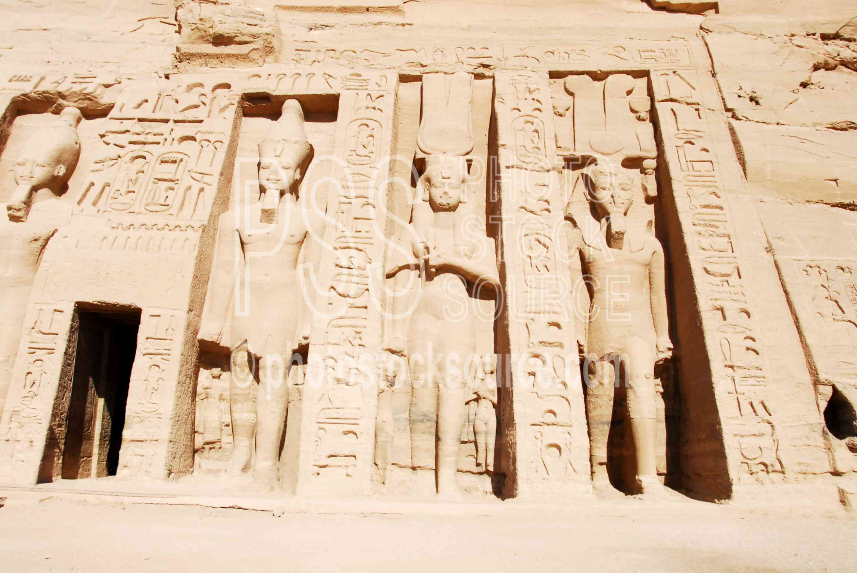 Nefertari's Temple of Hathor,temple,queen,nefertari,statues,architecture,temples