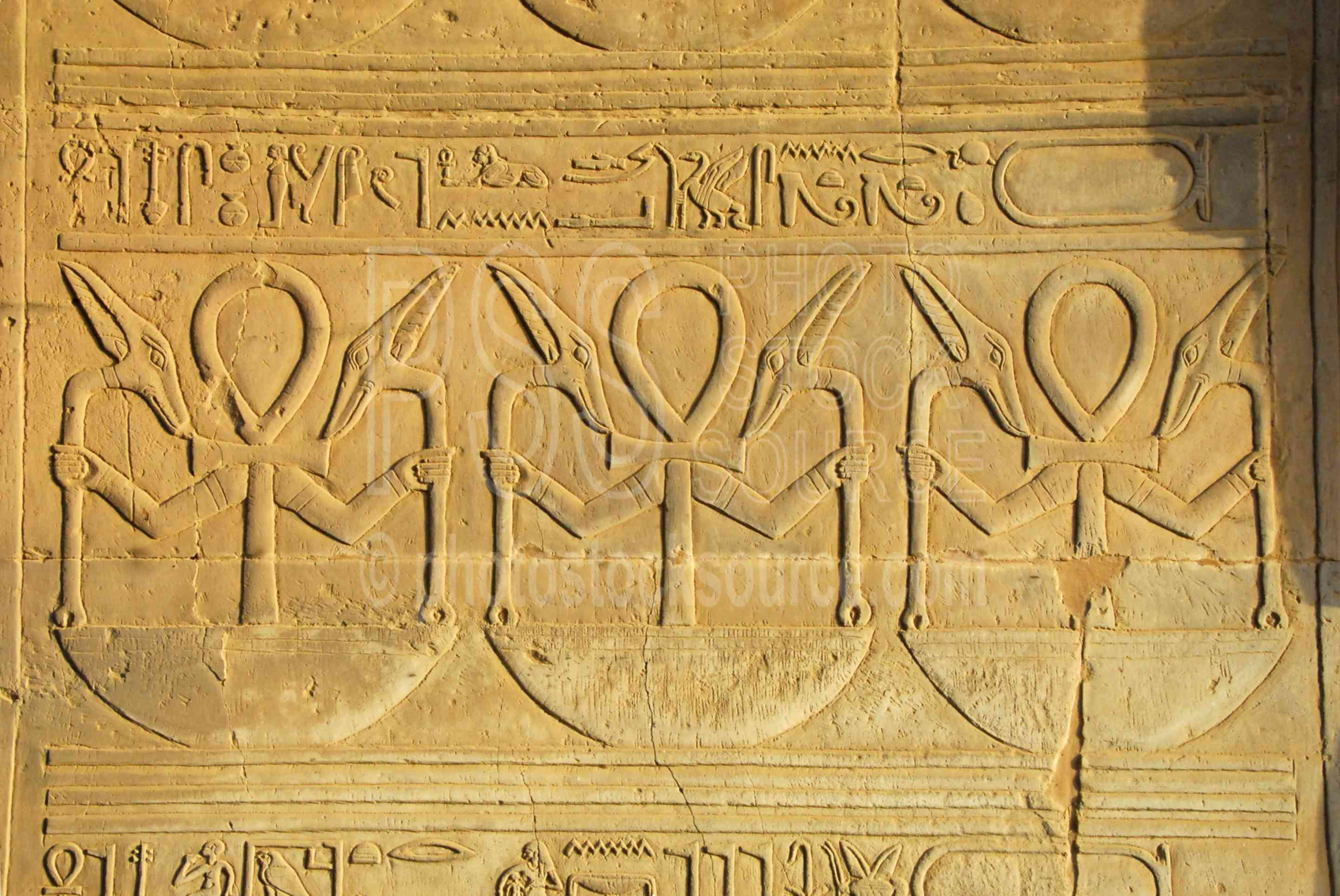 Hieroglyphics on Walls,ptolemy,horus,haroeris,sobek,horus the elder,anhk,hieroglyphics