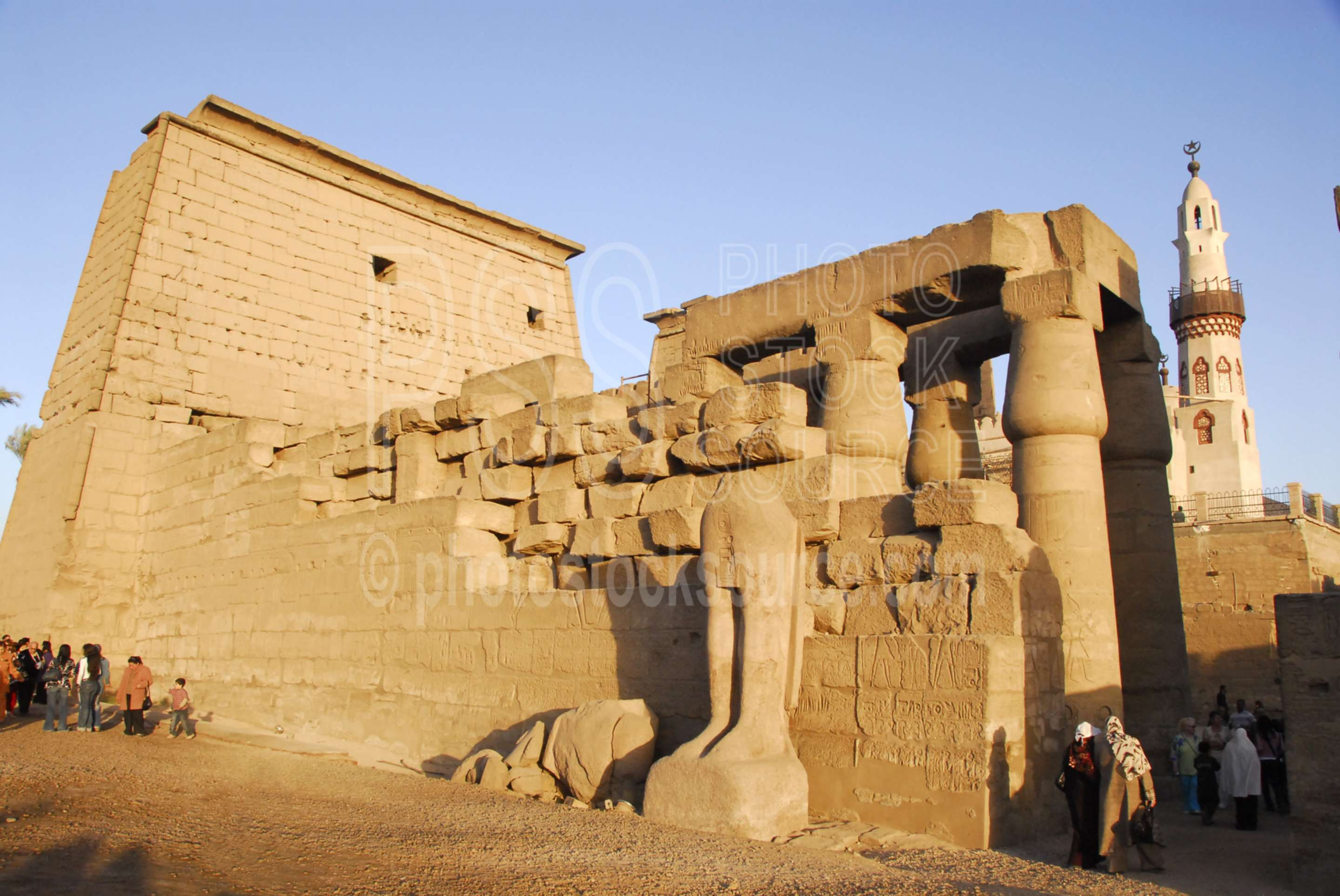 Luxor Temple West Wall,temple,columns,statues,architecture,temples