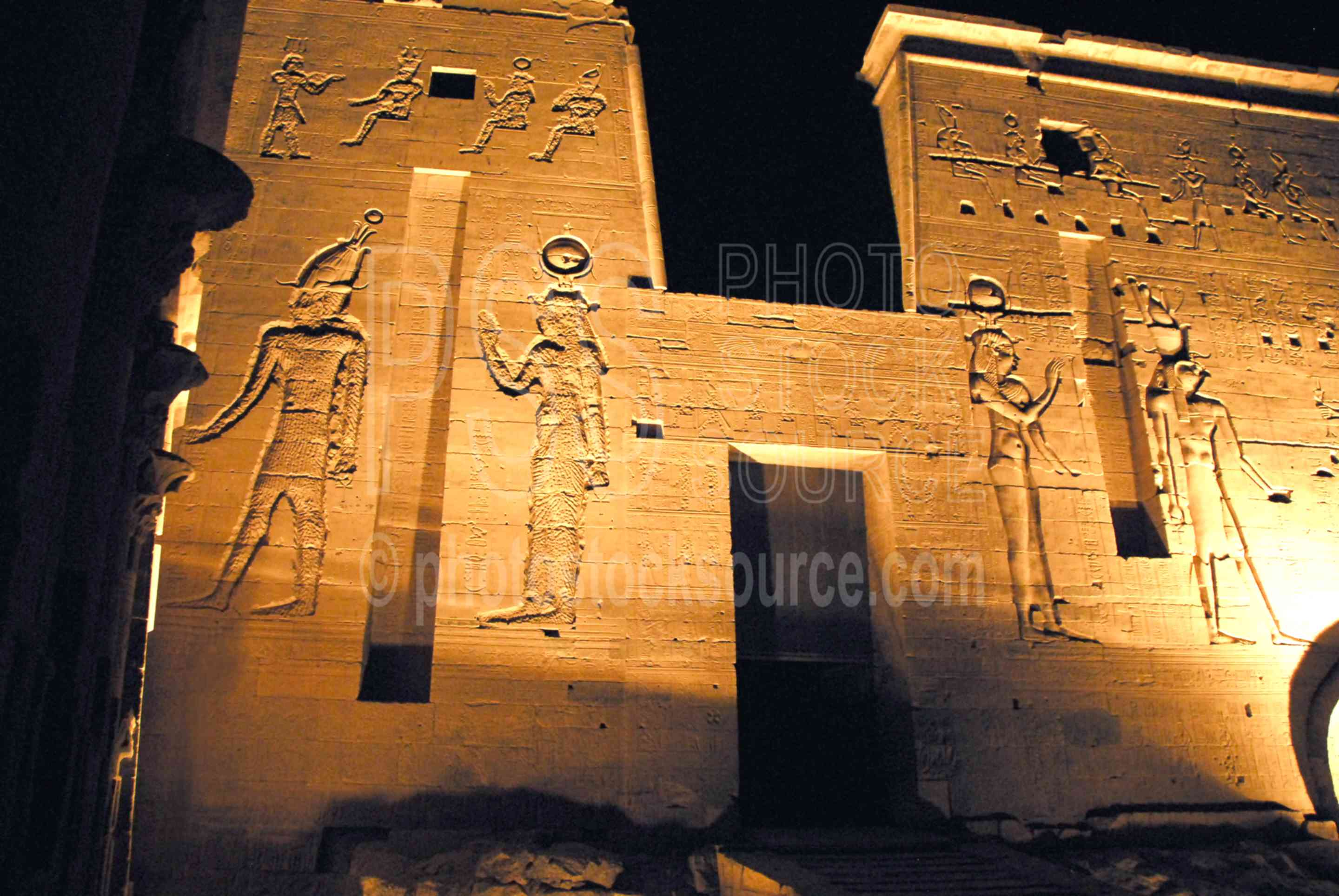 Philae Temple Lightshow,temple,light,lightshow,dark,night,hieroglyphics,temples