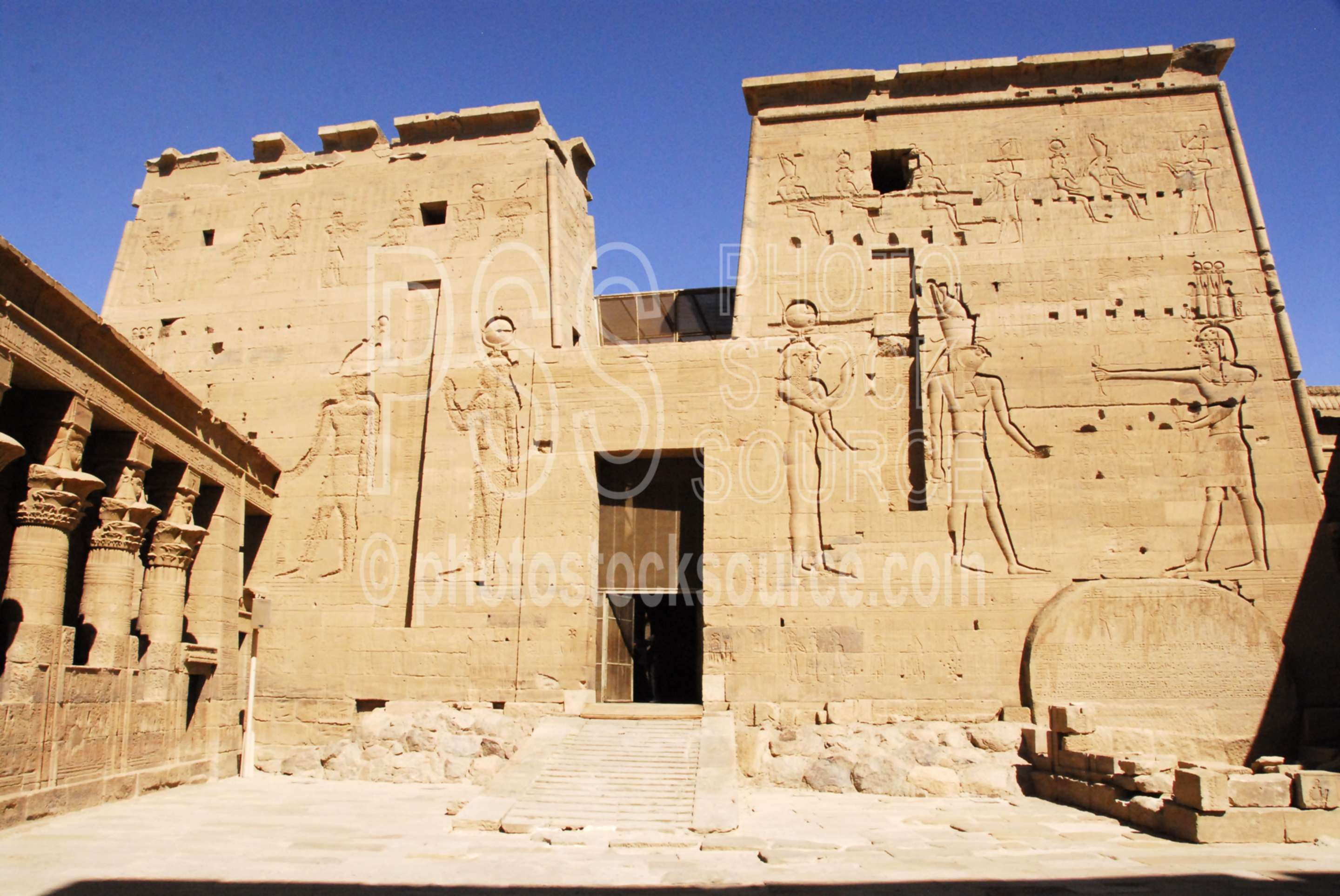Temple of Isis Pylon,temple,ruins,hieroglyphics,architecture,temples