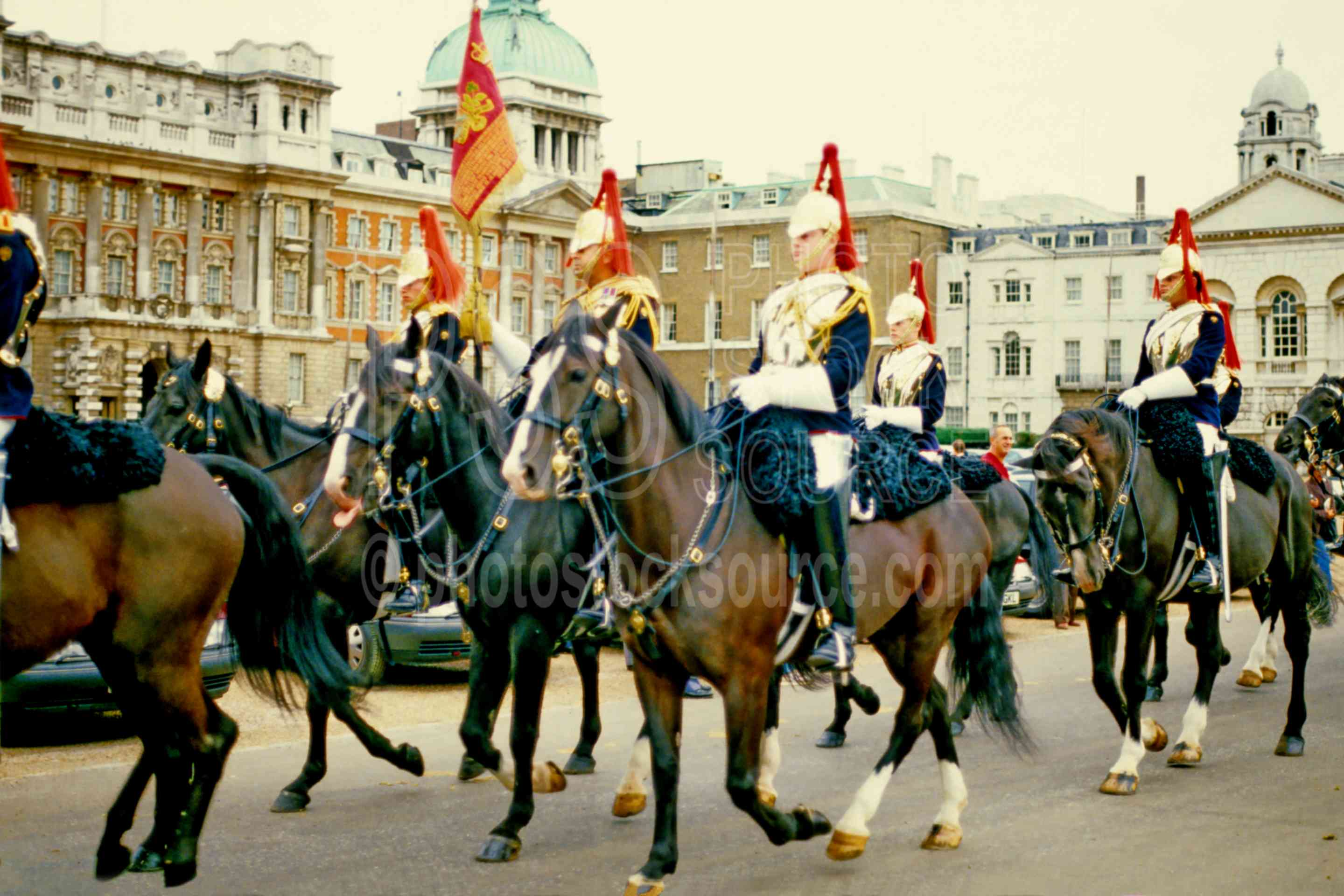 Horse Guards,europe,flag,guard,horse,march