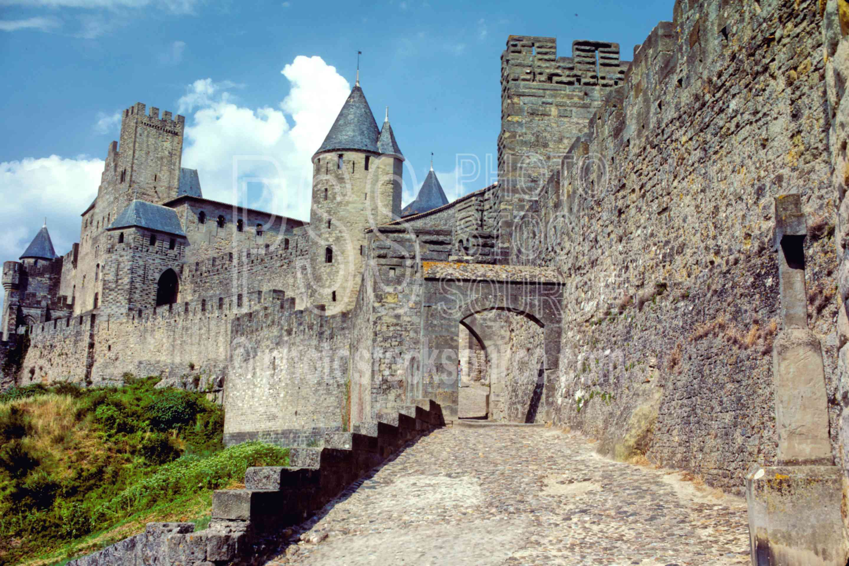 Entrance to the City,castle,europe,medieval,road,wall,france castles