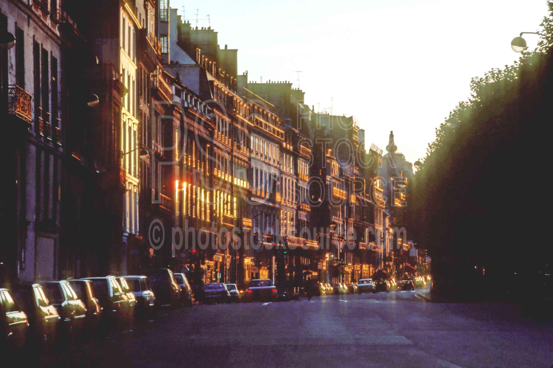 Quai Voltaire at Sunset,europe,quai voltaire,sunset