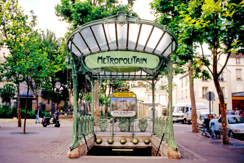 Plaque Metro Parisien Deco photo of abbesses metro stopphoto stock source - art