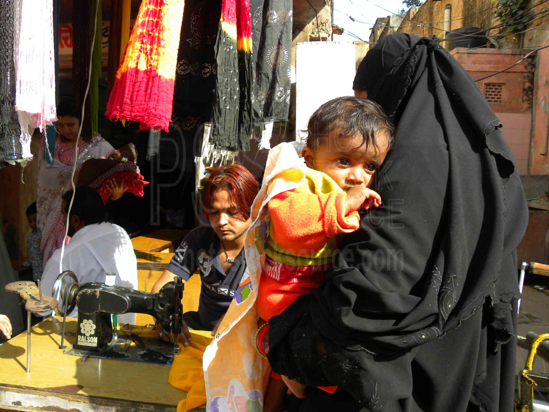 Women and Child,women,shopping,child
