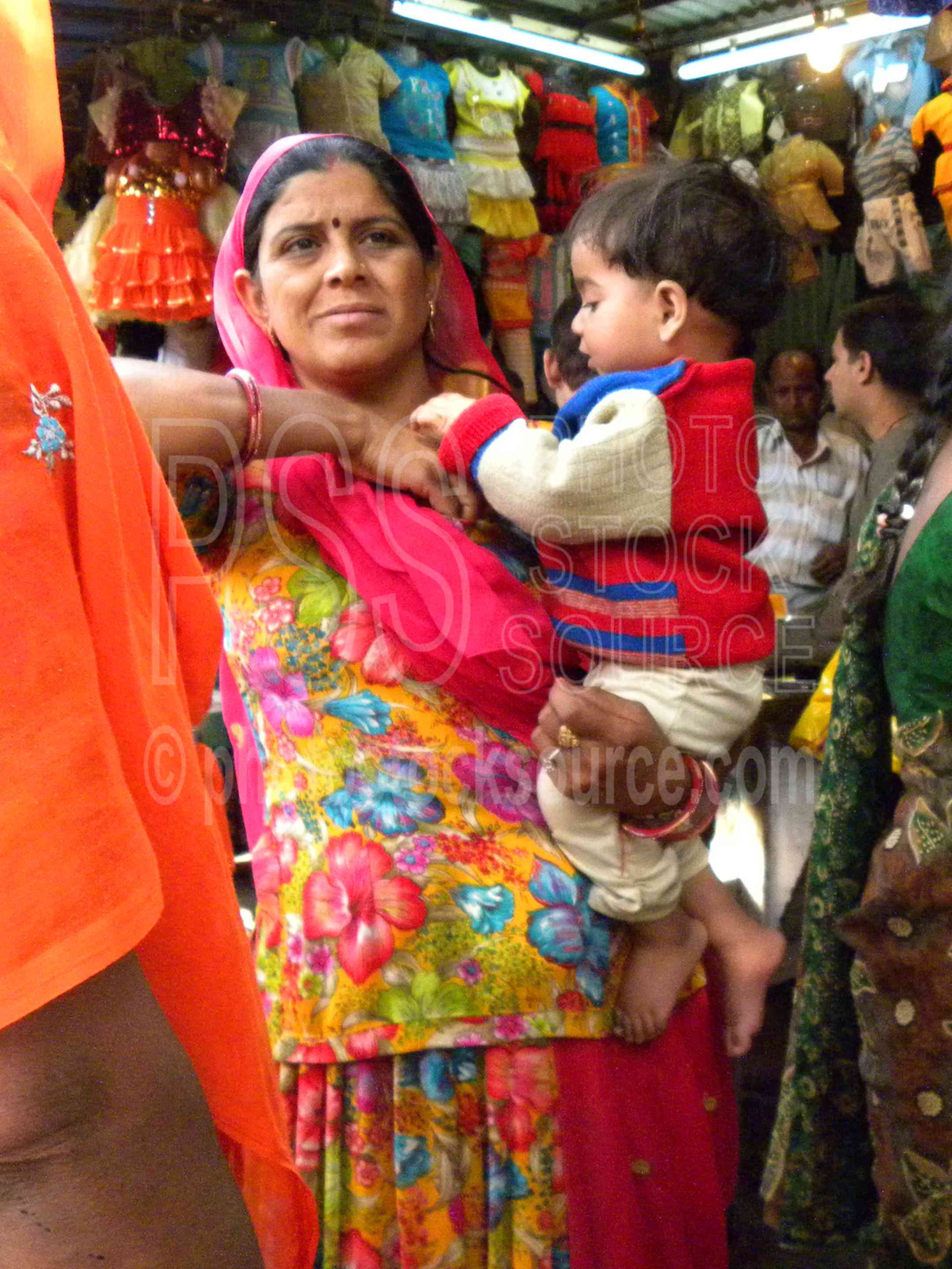 Woman with Child,woman,shopping,children