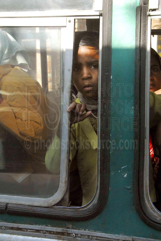 Child on Bus,bus,child,boy