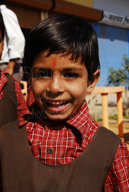 School Girl with Bindi,school,girl,bindi,uniform