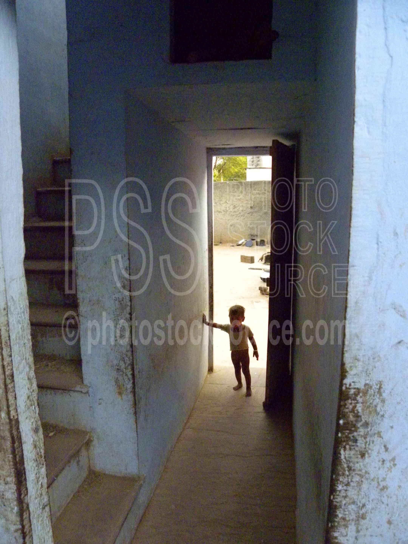 Baby in Doorway,house,home,hall,baby,door,doorway