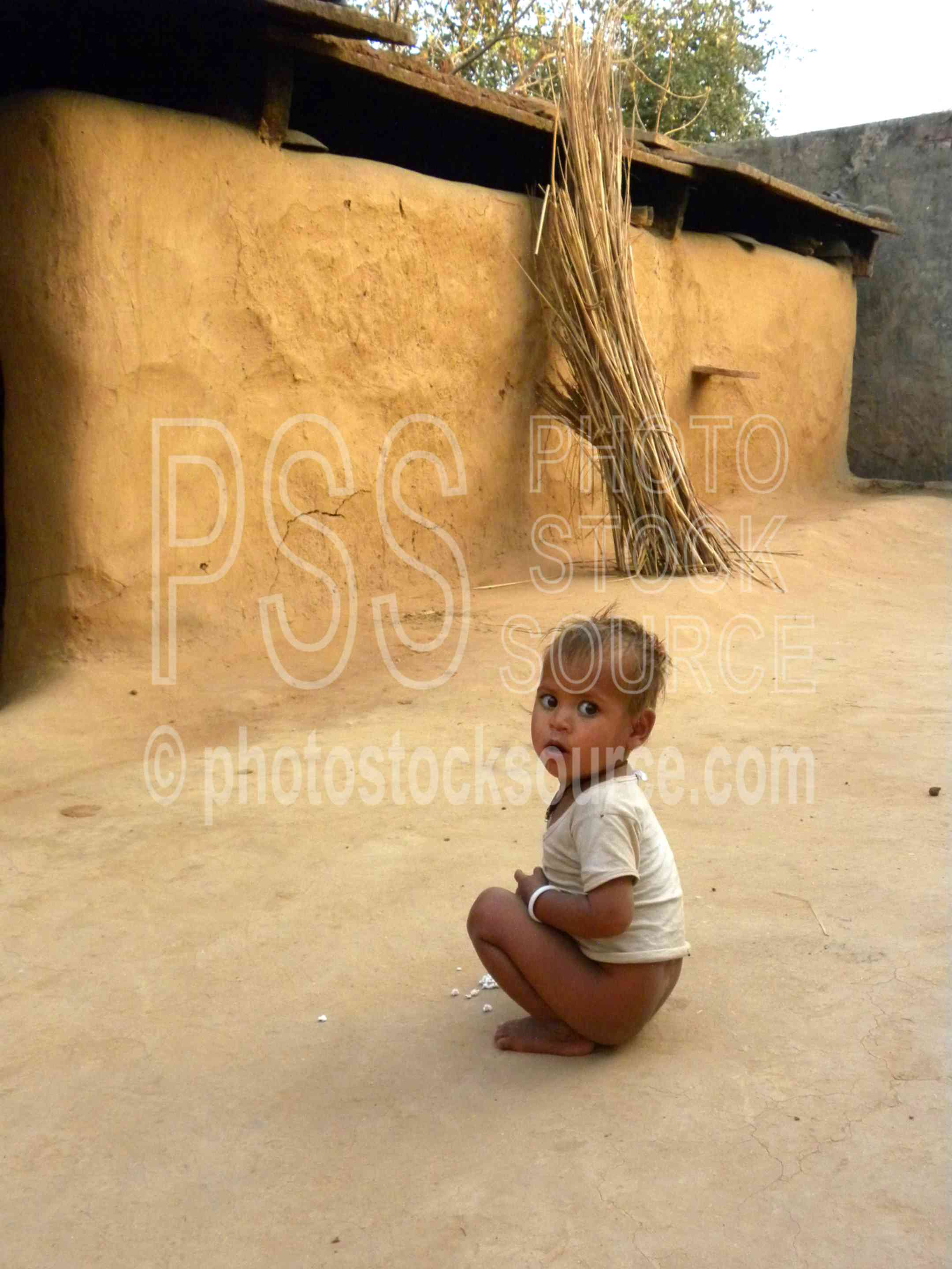 Baby in Courtyard,house,home,courtyard,baby,child