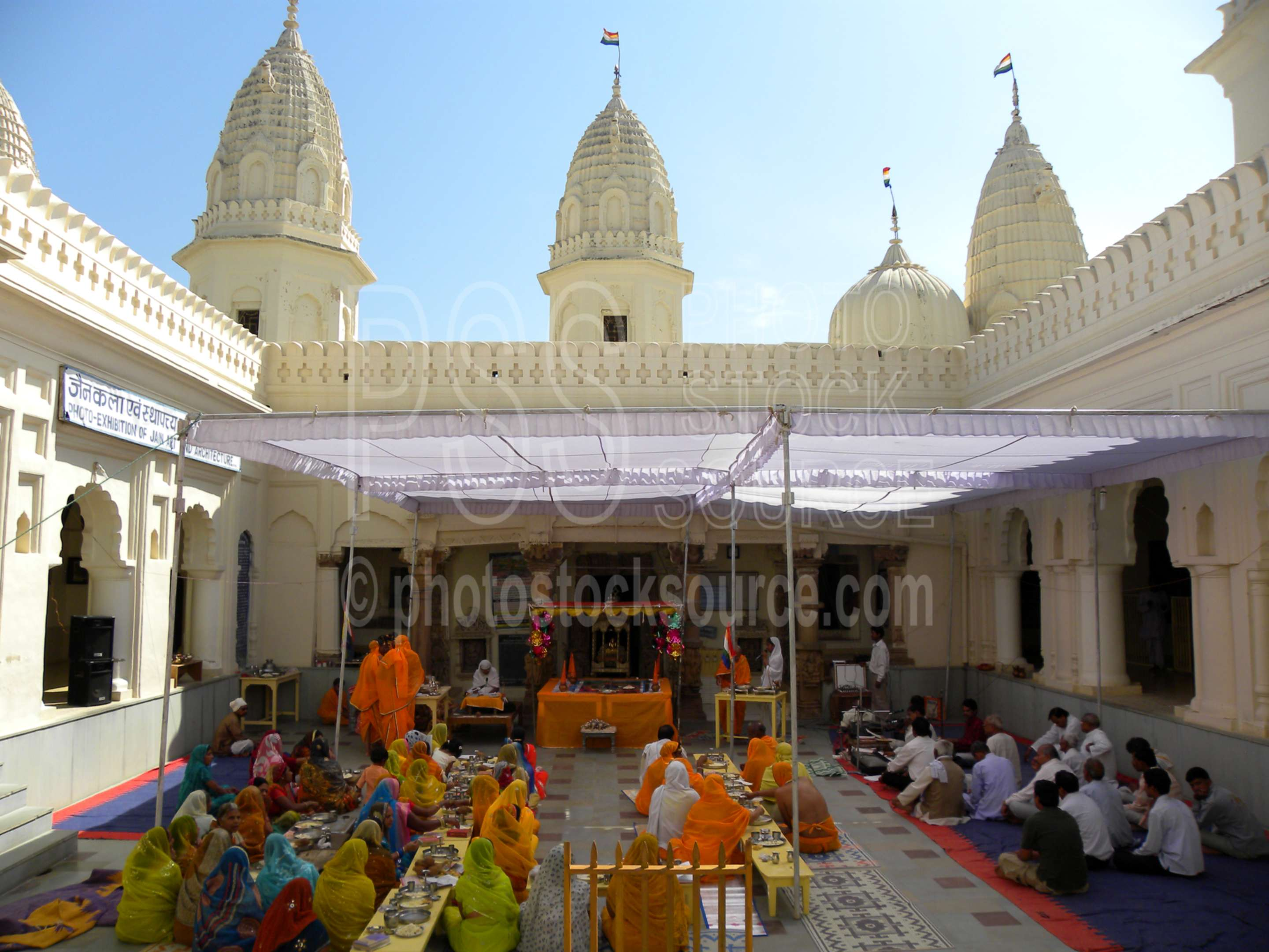 Shri Shantinath Courtyard,eastern group,temple,shrine,ceremony,hindu,religious,worship,worshipping,pray,praying,people,architecture,ceremonies,temples