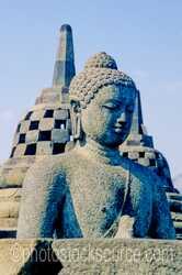 Photo of Buddha and Stupas