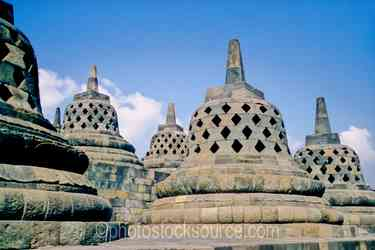 Stupas - Stupas near the top of the temple