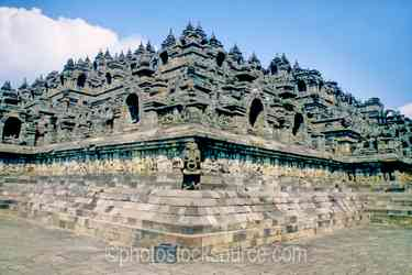 Corner of Temple - Corner of the Borobudur Temple