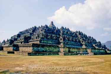 Borobudur Temple - The stepped layers of the Borobudur Temple