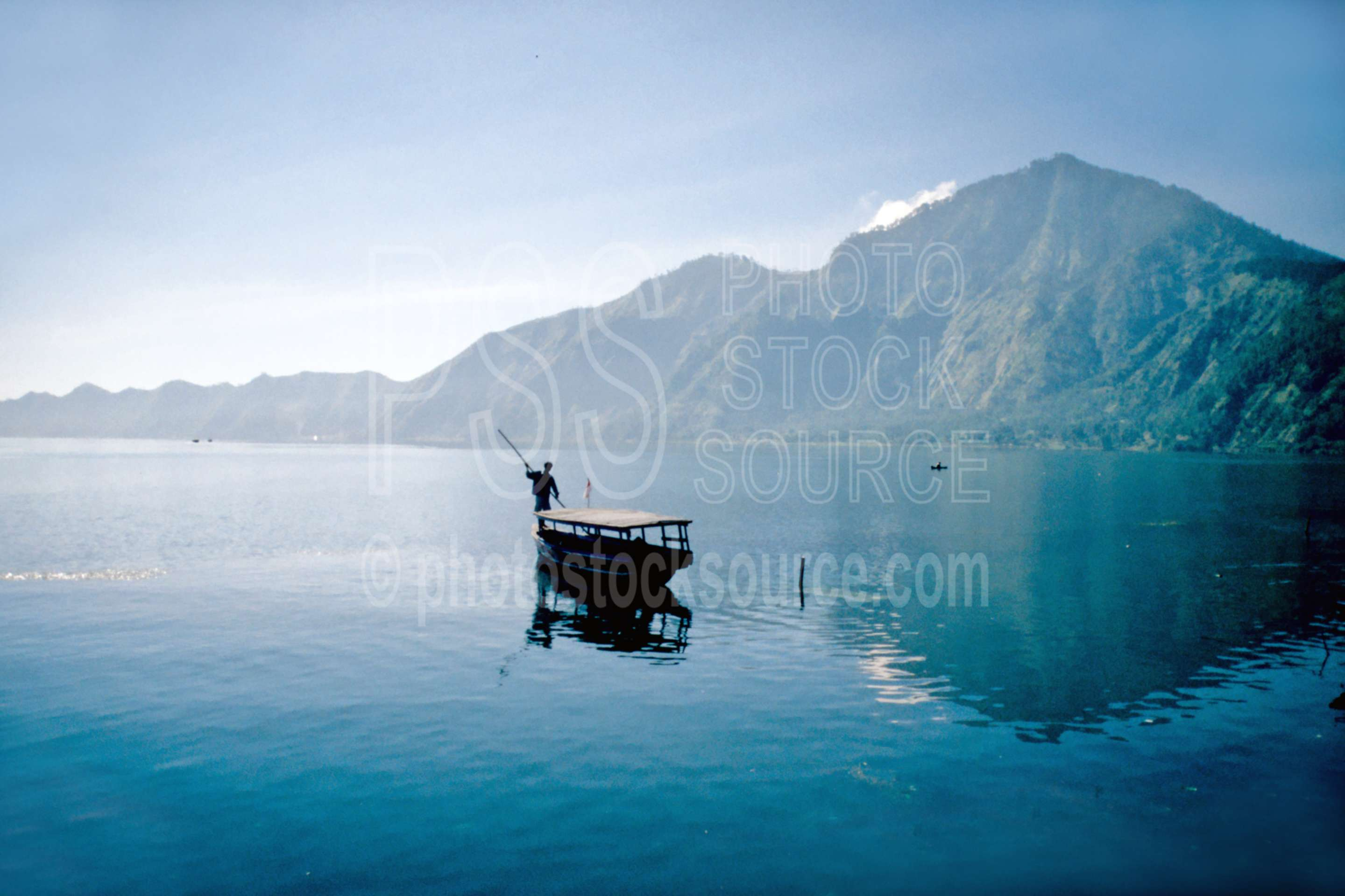 Boat on Lake Batur,caldera,lake,vehicle,lakes rivers,nature,boats