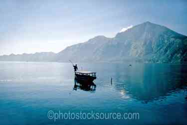 Boat on Lake Batur - Boat on Lake Batur in the caldera in the center of Bali