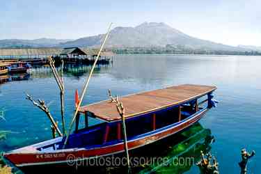 Boat - Boat on the shores of Lake Batur, in the caldera in the center of Bali
