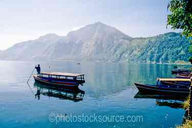 Photo of Boat on Lake Batur