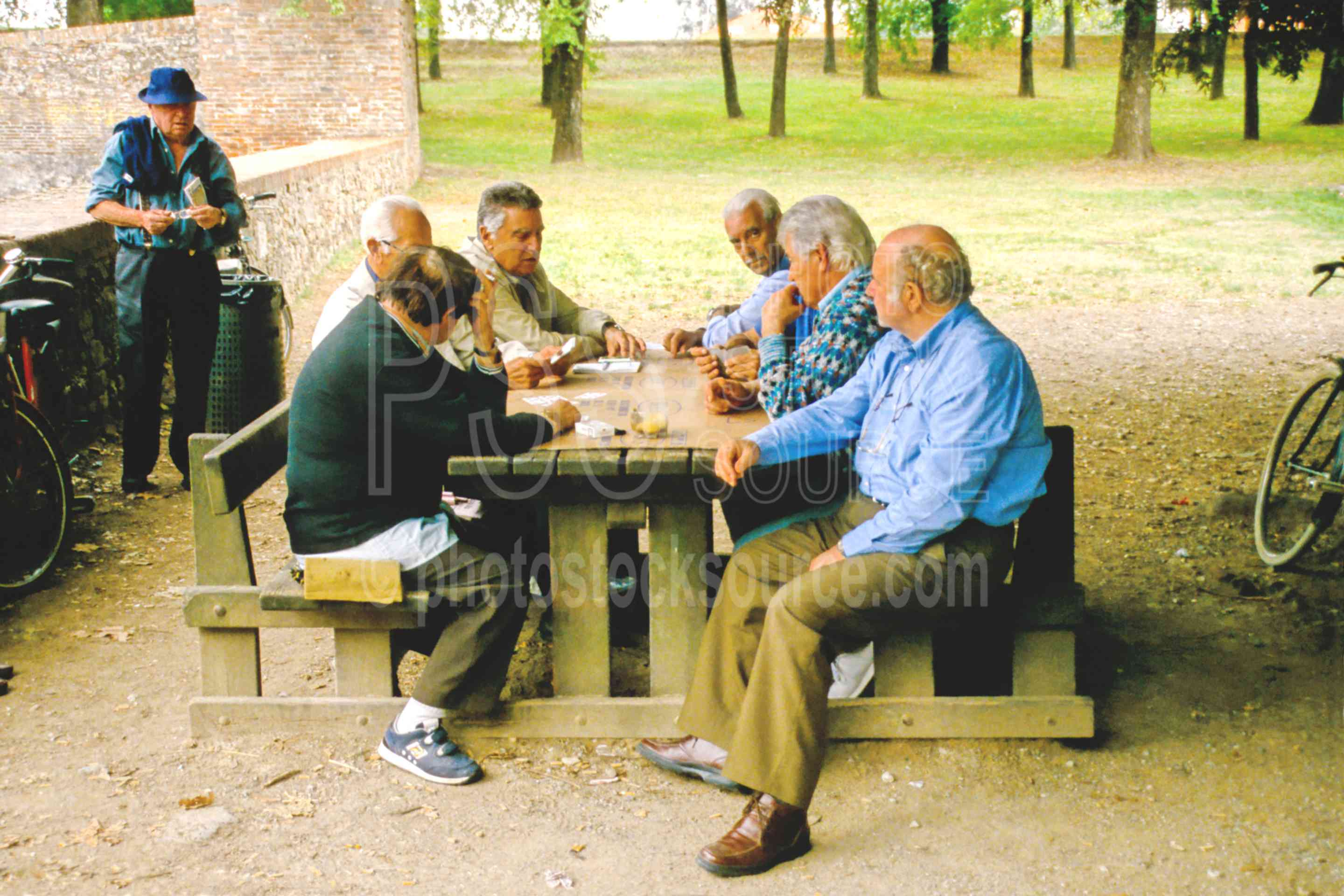 Playing Cards in the Park,cards,europe,game,mens,park