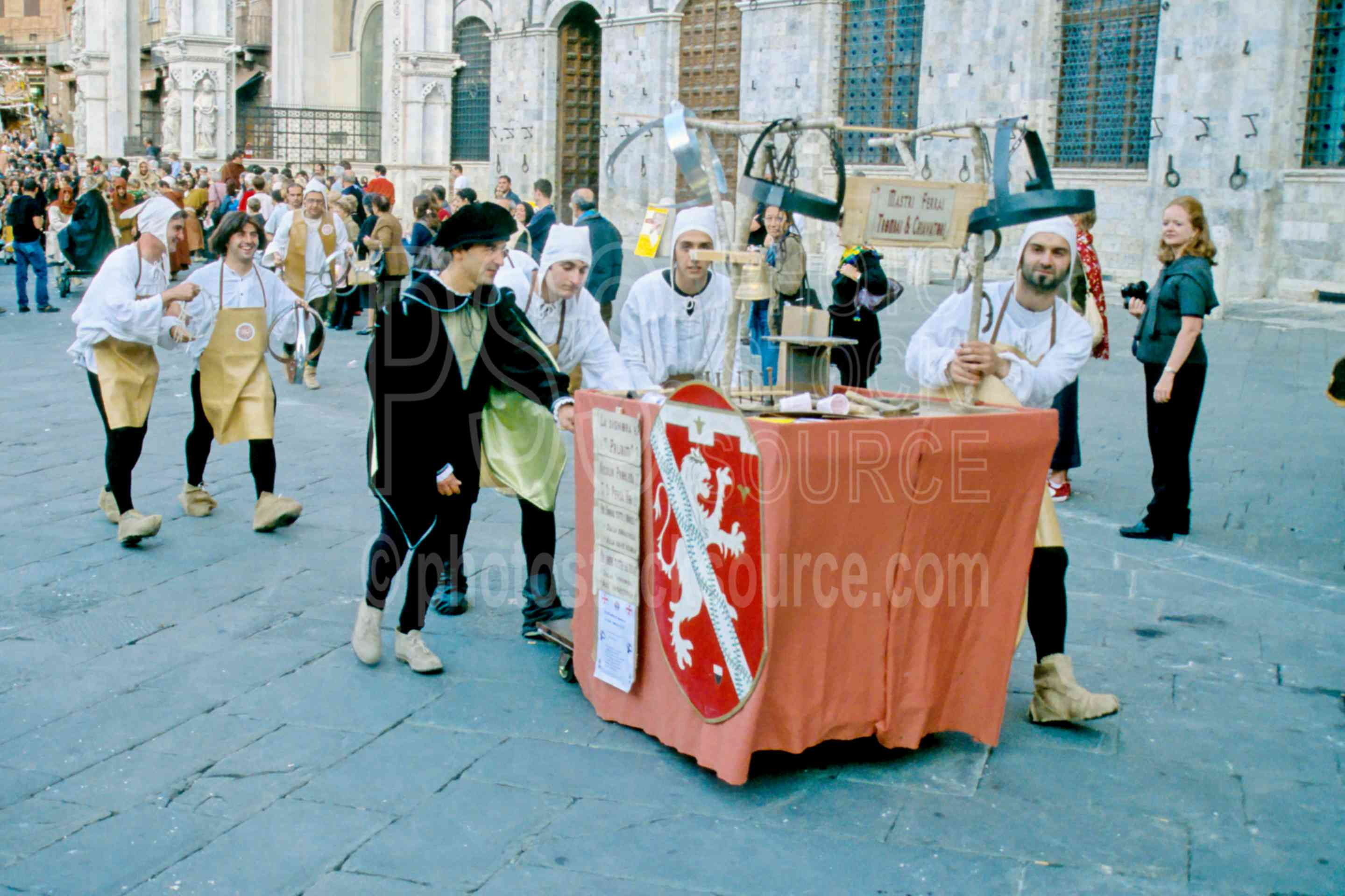Parade in Il Campo,ceremony,donkey,europe,gather,il campo,palio,parade,ceremonies