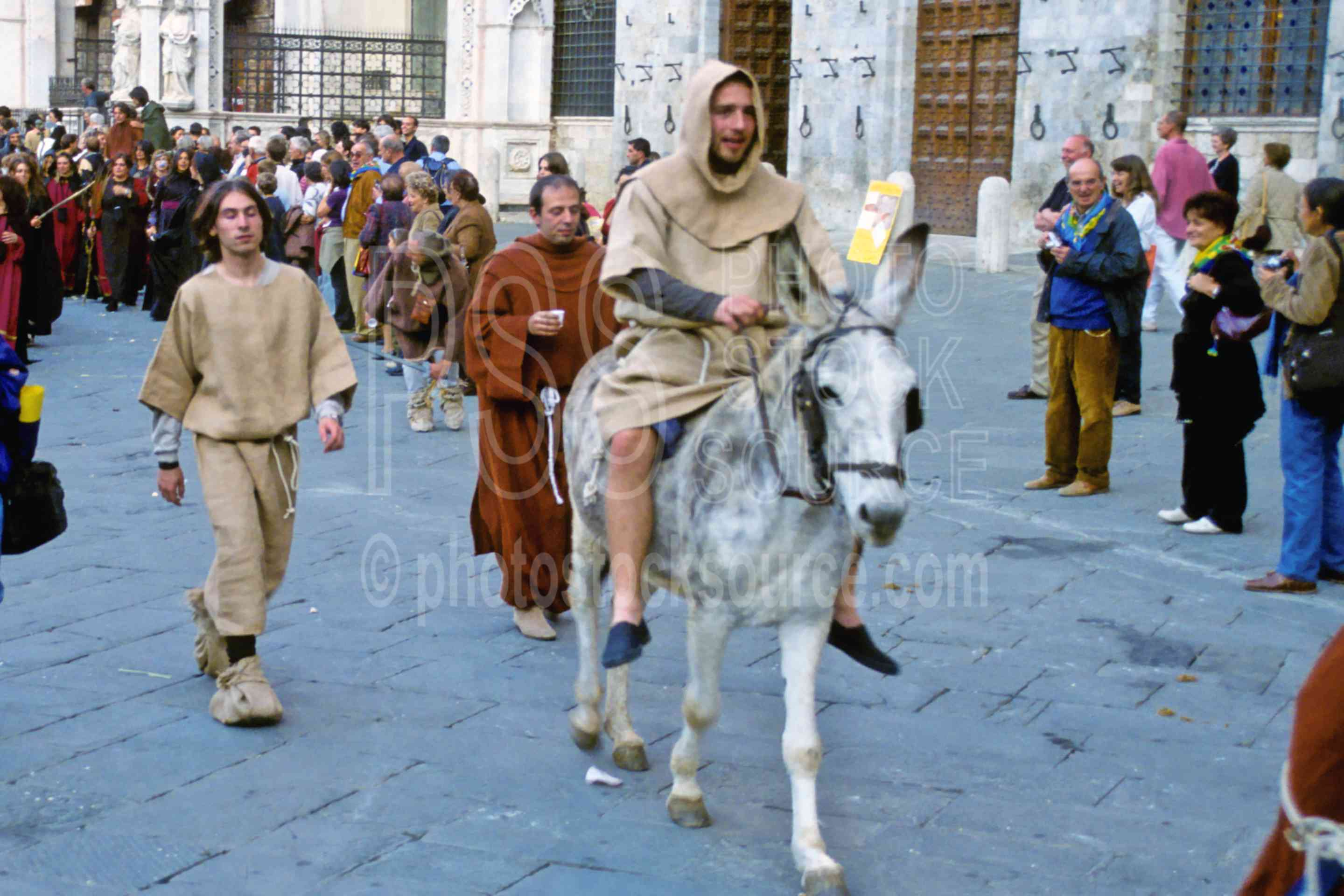 Parade in Il Campo,ceremony,donkey,europe,gather,il campo,palio,parade,farm animals,ceremonies