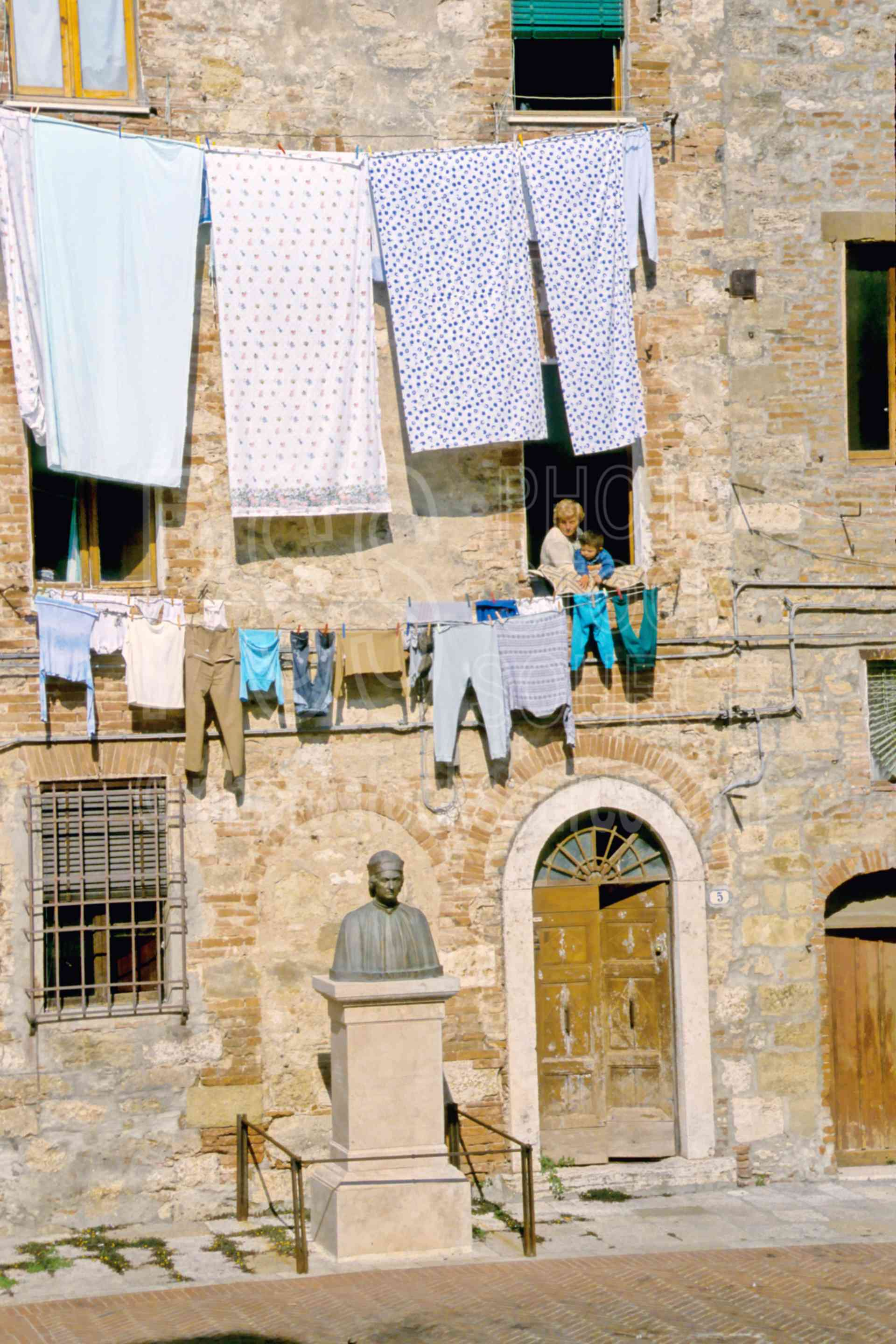 Grandmother and Child,laundry