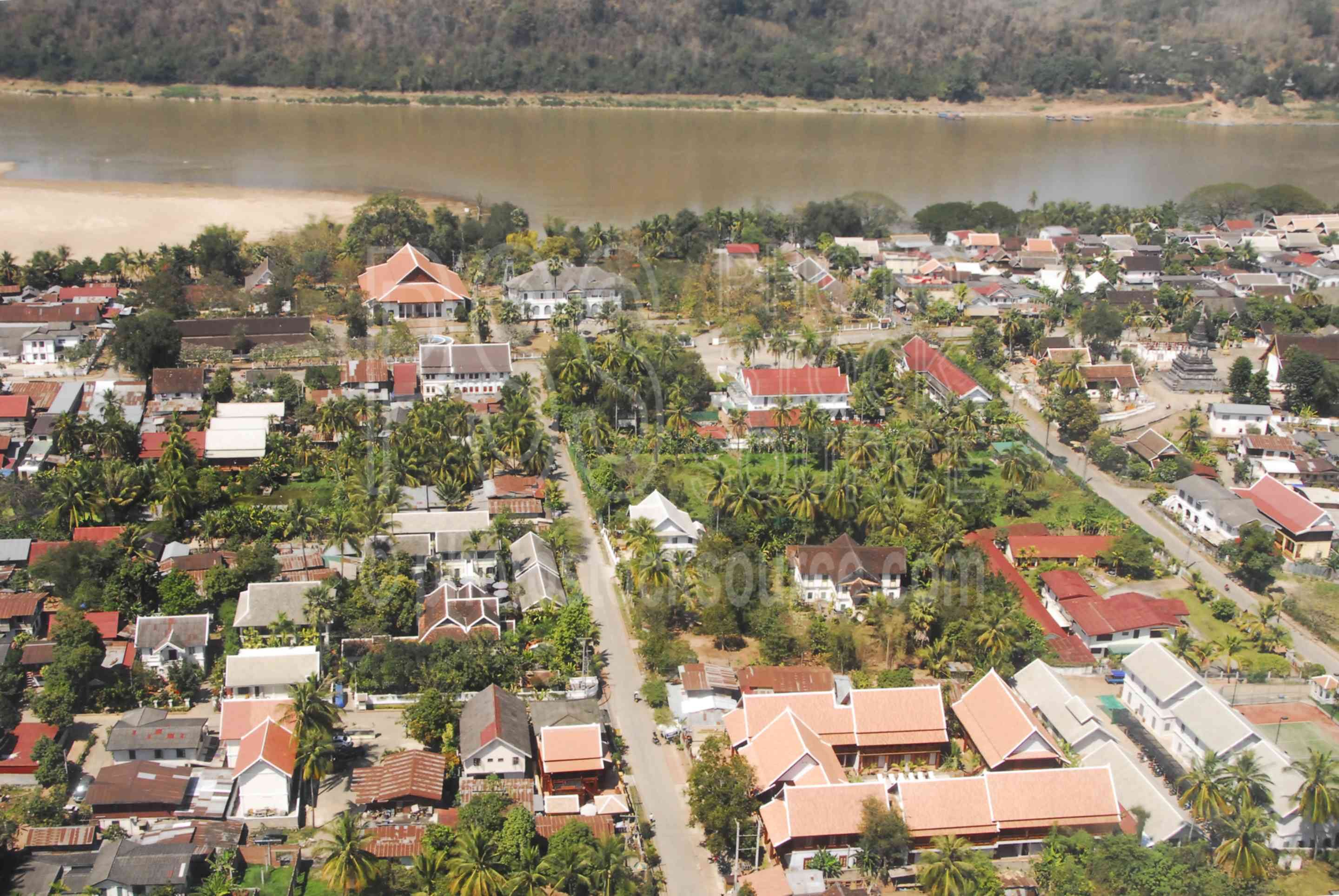 Luang Prabang,city,town,flying,mekong,river